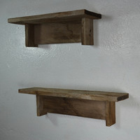 "Pair of rustic reclaimed wood shelves 18""x4"" and 15"" x 5"""