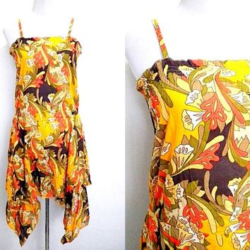 Autumn / Fall Sale: floral drop waist dress (medium to large)