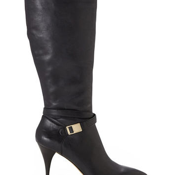 VINCE CAMUTO Black Ofra Wide Calf Tall Boots