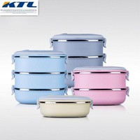 DCCKWJ7 KuBac Container For Food Storage Box Thermal School LunchBox Stainless Steel Japanese Bento Lunch Boxs Portable Picnic