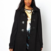 Liquorish Hooded Duffle Coat