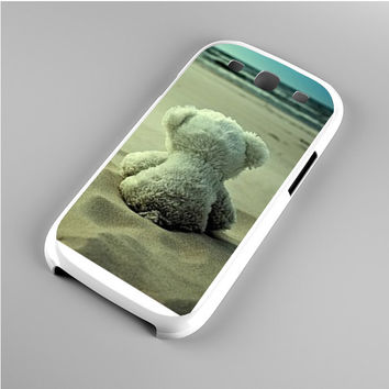 Little Teddy Bear in Beach Samsung Galaxy S3 Case