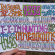 Thrift Shop Lyric Drawing