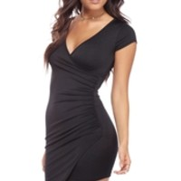 Black Wrap It Up Dress