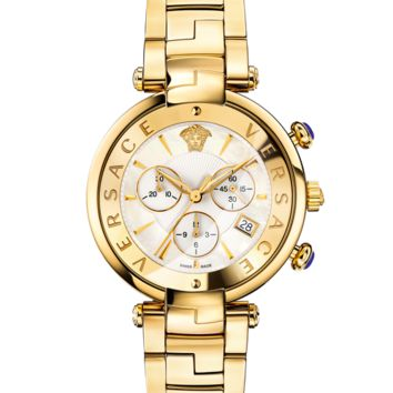 Versace Rêvive Chrono White Dial Watch for Men | Official Website