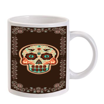 Gift Mugs | Sugar Skull Day Of The Dead Ceramic Coffee Mugs