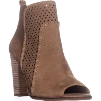Lucky Brand Lakmeh Peep Toe Ankle Booties, Sesame, 9 US