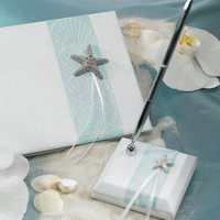 Starfish Beach Themed Wedding Pen Set for Guestbook