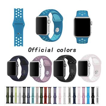 New 42MM Rubber strap Flexible Breathable Silicone Sports Band for Apple Watch Series 2