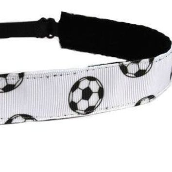 White Soccer Headband
