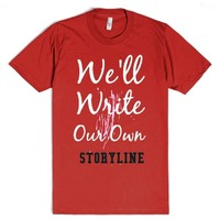 Write our own Storyline-Unisex Red T-Shirt