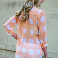 Hottie Dottie Blouse: Sherbert | Hope's