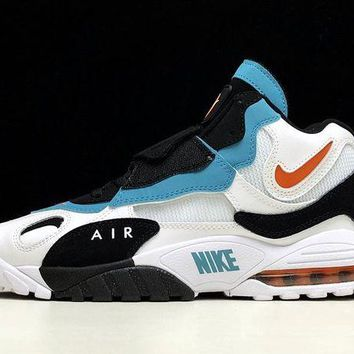DCCK Nike AIR MAX SPEED TURF Retro Men Shoes Sneakers Sport Basketball White Black Blue Size 40-45