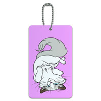 Ragdoll Cat On Pink - Pet ID Card Luggage Tag