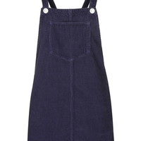 MOTO Navy Cord Pinafore Dress - New In This Week - New In