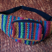 Ethnic Festival Fanny packs Belt Bum bag Tribal Aztec fabric Travel phanny waist Ikat Hippies Gypsy Bohemian Hipster fashion Pink Red blue