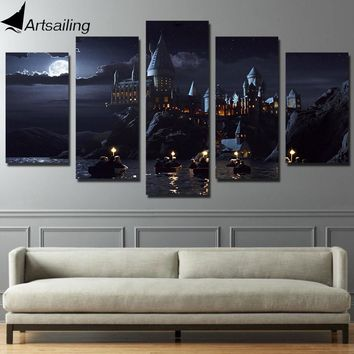 Harry Potter School Castle Hogwarts 5 piece canvas