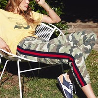 MOTHER | No Zip Misfit Cropped Pant - Camo