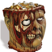Bleeding Zombie Head Bucket – Spirit Halloween