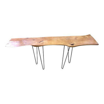 Console Table Live Edge with Hairpin Legs