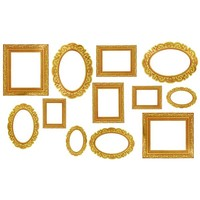 Gold Frame Photo Booth Props 12ct | Party City