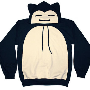 Snorlax Inspired Pullover Hoodie (Made to Order)