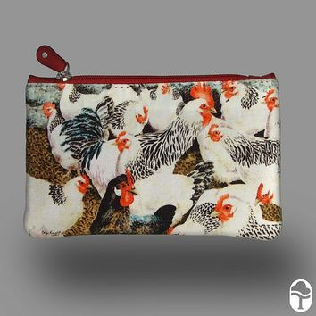 Large Leather Printed Coin Purse