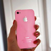 iPhone 4 GSM Glass Housing Pink