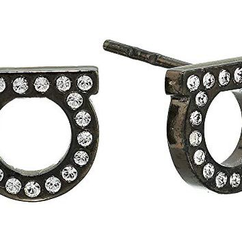 Salvatore Ferragamo Stud Strass Earrings
