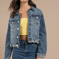 Rosemead Cropped Denim Jacket