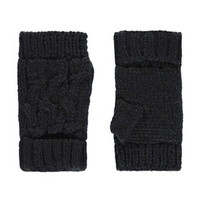Plush-Lined Fingerless Gloves
