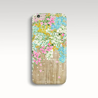 iPhone 6 Case, Wood Print iPhone 5 Case, Floral iPhone 5s Case, Wooden iPhone 5C Case, Spring iPhone Case, iPhone 4s Case, iPhone 6 Cases