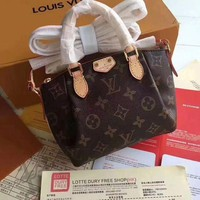 DCCKN7K Louis Vuitton Women Shopping Bag Leather Tote Handbag Shoulder Bag
