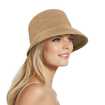 Eric Javits Women's Headwear Squishee Bucket Hat (Natural)