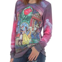 Disney Beauty And The Beast Rose Pullover Top