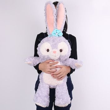 Large Size New Cartoon Stellalou Bunny Rabbit Plush Toys Friend of Duffy Bear Big Soft Stuffed Animal Dolls For Kids Girls Gifts
