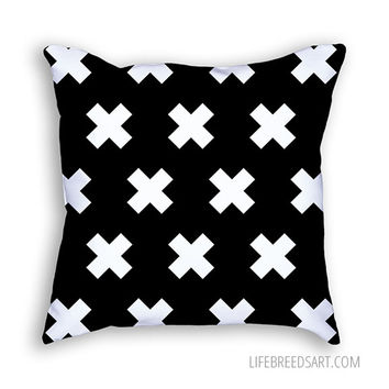 Modern Plus (Black) - Throw Pillow