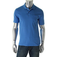 John Ashford Mens Pique Solid Polo Shirt