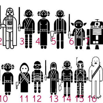 Star Wars Family Decals - Better than any Stick Family! Mom, Dad, Brother, Sister stickers, Jedi, Sith, Luke, R2D2, Chewbacca