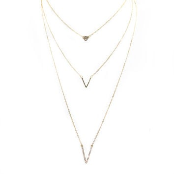 Express Layered Gold Necklace
