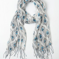 Boho All Eyes on Me Scarf in Mist by ModCloth