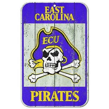 "Licensed East Carolina Pirates NCAA 11"" x 17"" Fence Plastic Wall Sign 11x17 Wincraft KO_19_1"