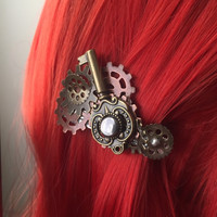 Key Steampunk Hair Accessories - Womens Hair Accessories - Steampunk Hair Clip Womens