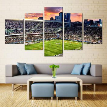 5 Pieces Chicago Bears Stadium Modern Home Wall Decor Painting Canvas Art HD Print Painting Canvas Wall Picture For Home Decor