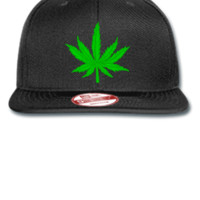 MARIJUANA LEAF Bucket Hat - New Era Flat Bill Snapback Cap