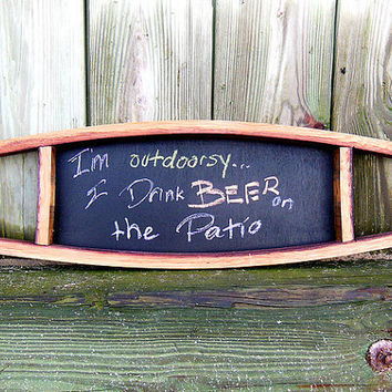 Wine Stave Chalkboard, Handmade and Recycled Home Decor!