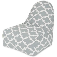 Gray Trellis Kick-It Chair