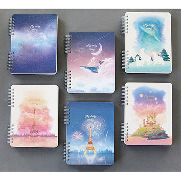 My story spiral bound undated daily diary planner