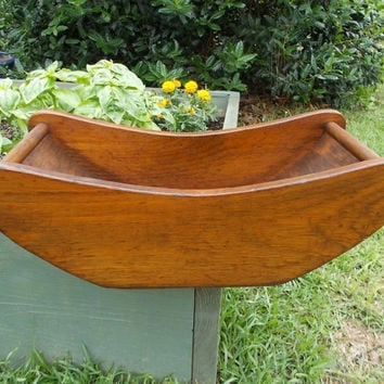 Large Wood Display Bowl Tray