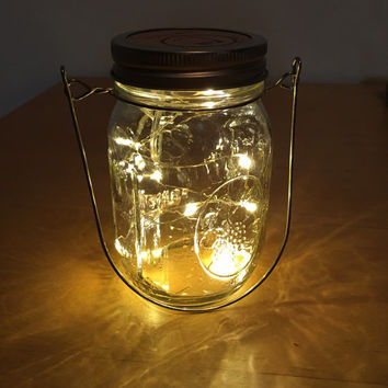 Firefly Lights with Mason Jar Lantern, Wedding Lights, Outdoor Lights, Hanging lantern, wedding lanterns, rustic lanterns, outdoor lantern
